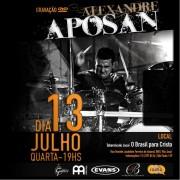 Alexandre Aposan grava DVD com participação especial de Oficina G3, Thalles, Luciano Claw, entre outros