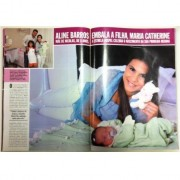 Aline Barros apresenta Maria Catherine em matéria para a Revista Caras