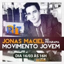 Jonas Maciel participará do programa Movimento Jovem, na RIT TV