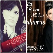 Fernanda Brum e Vanilda Bordieri apresentam capas de seus livros